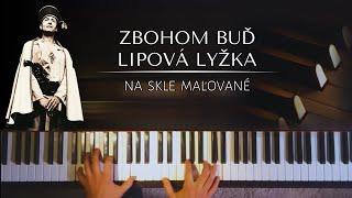 Zbohom buď, lipová lyžka (Na skle maľované) + noty pro piano
