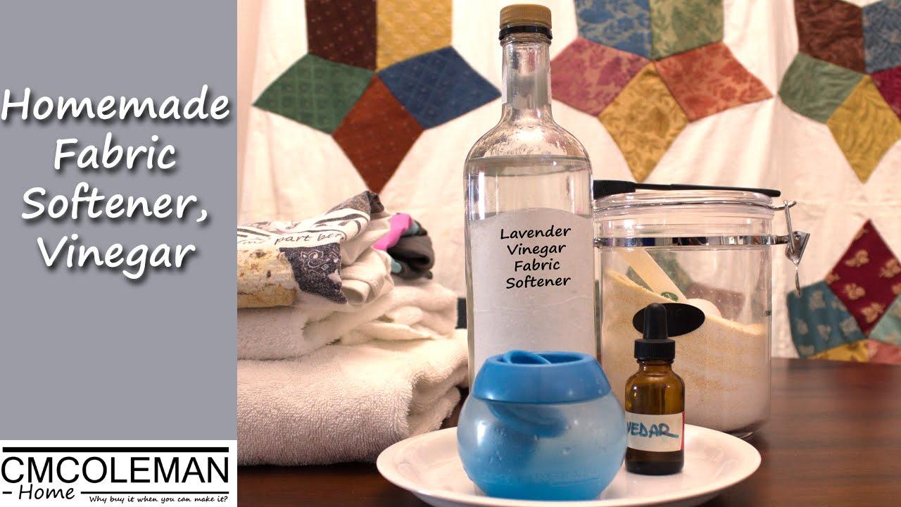 Homemade Fabric Softener - Scented Vinegar