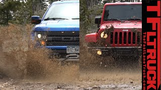 Ford Raptor vs Jeep Wrangler (Part 1): The Ultimate Off-Road Mashup Challenge