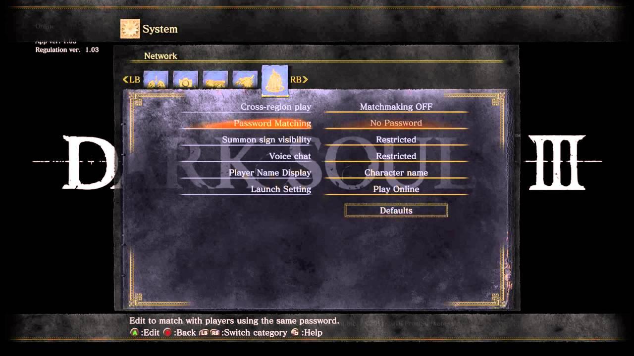 Matchmaking dark souls 3 cross region