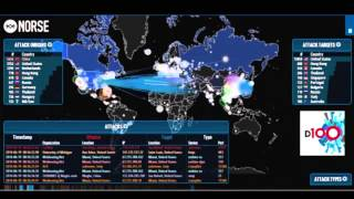 Facebook being DDOS attack by China showed on Norse Attack Timeline