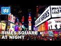 Walking around Times Square at Night in