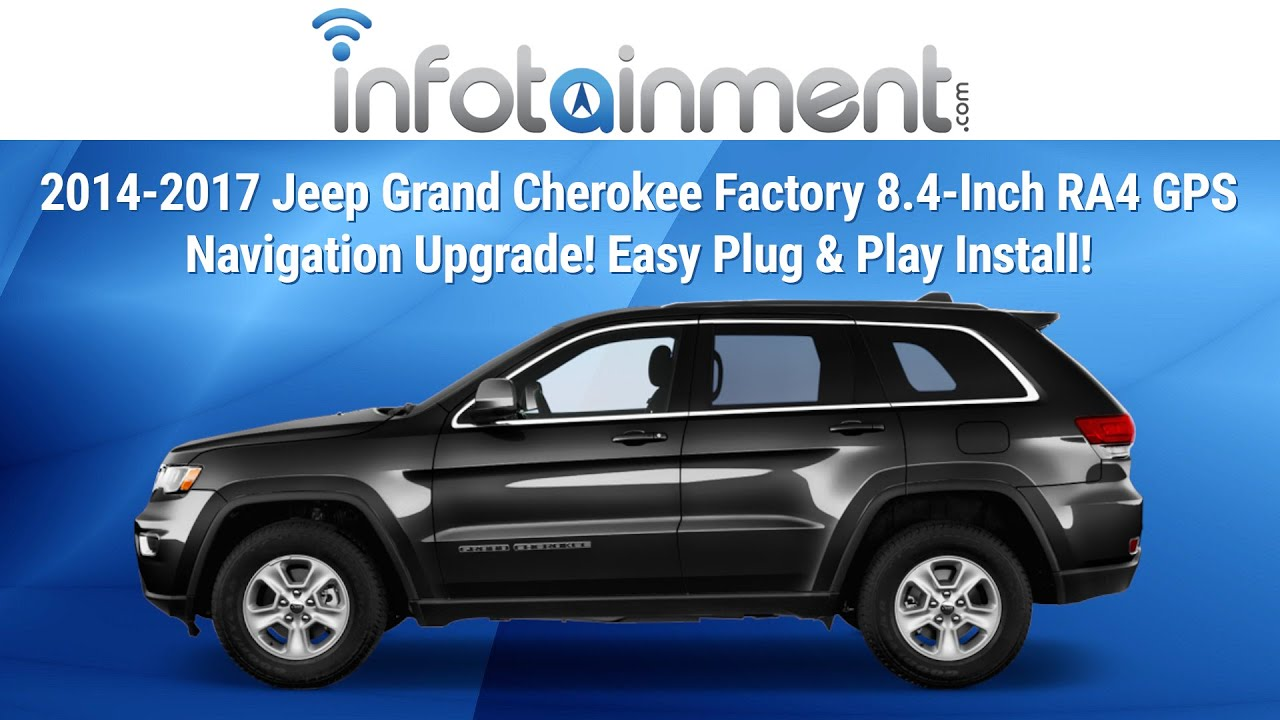 jeep cherokee stereo wiring diagram tekonsha 2014-2017 grand factory 8.4-inch ra4 gps navigation upgrade! easy plug & play ...