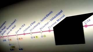 MP89 CC 04 89 S008 RATP Paris Metro Line 4 (formerly Line 1) Étienne Marcel to Réaumur - Sébastopol