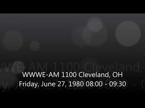"WWWE-AM 1100 kHz ""3WE"" Cleveland, OH Friday, June 27, 1980 08:00-09:30"