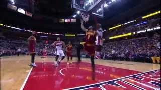 Kyrie Irving Converts Amazing Reverse Layup Around Wall
