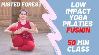 Low impact core strength and overall stretches | Yoga + Pilates