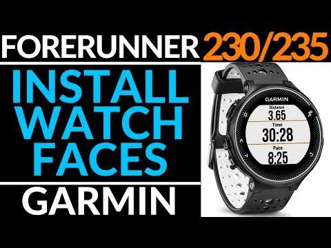 How to Install a Watch Face on Garmin Forerunner 230 / 235
