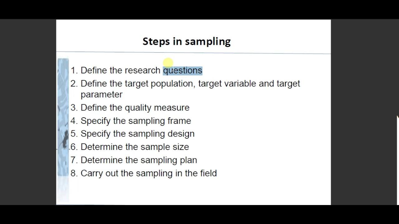 Data mining: steps in sampling in urdu hindi - YouTube