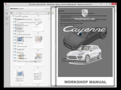 porsche cayenne wiring diagram single phase starter 92a service manual youtube