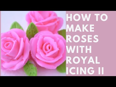 How To Make Roses With Royal Icing YouTube