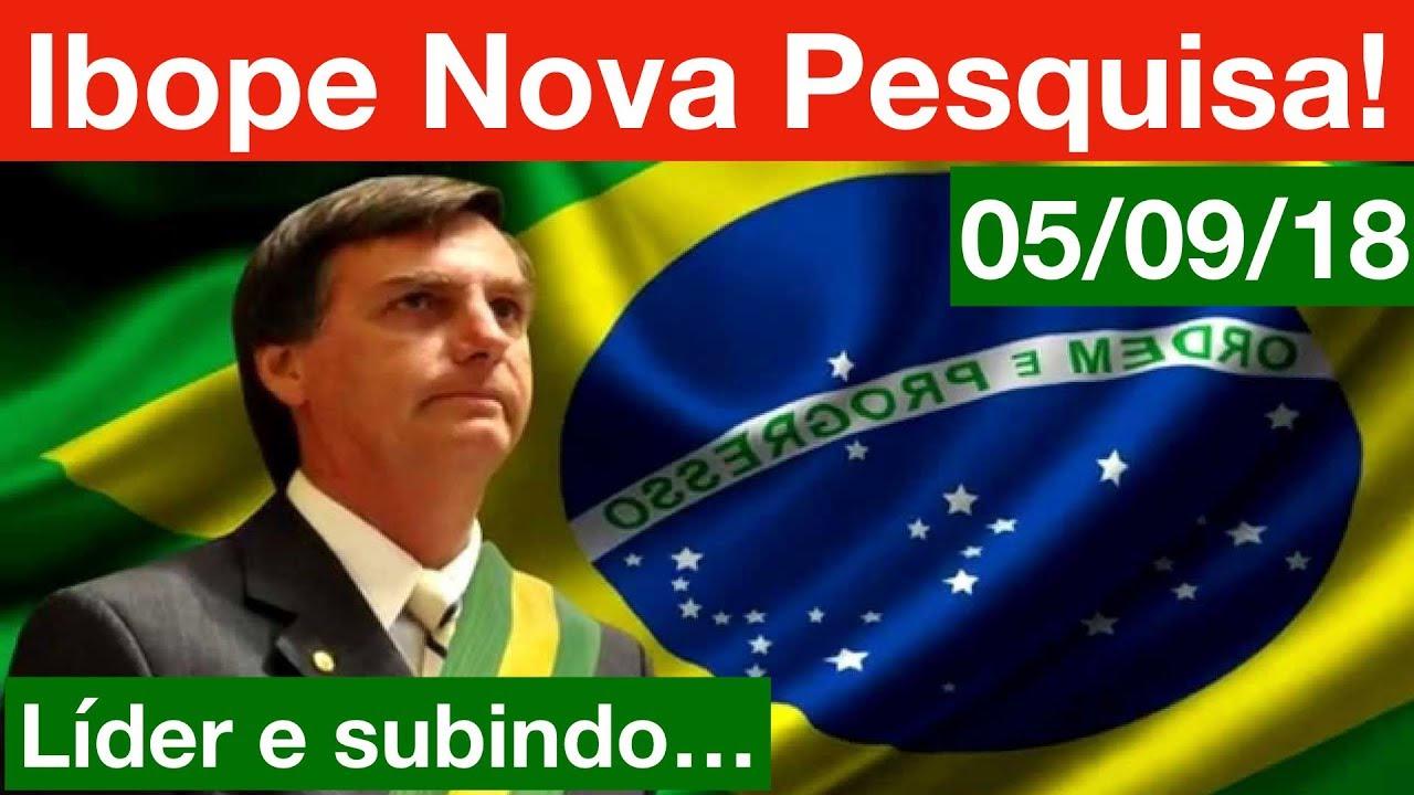 Bolsonaro aumenta liderança em nova pesquisa Ibope para Presidente! 05/09/18