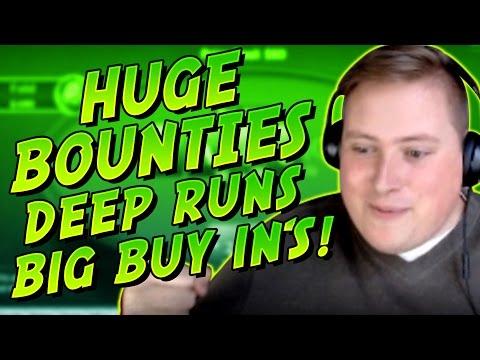 HUGE BOUNTIES, DEEP RUNS BIG BUY IN'S!! PokerStaples Stream Highlights April 23rd 2017