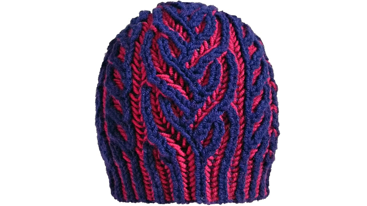 Brioche knitting *Interweave hat* knitting patterns - YouTube