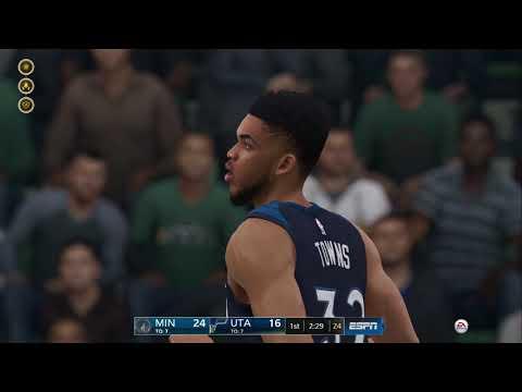 NBA Live 19- Utah Jazz vs Minnesota Timberwolves Gm.50 (What a Butt Whopping!)