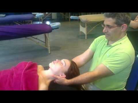 Massage techniques: neck & shoulders supine