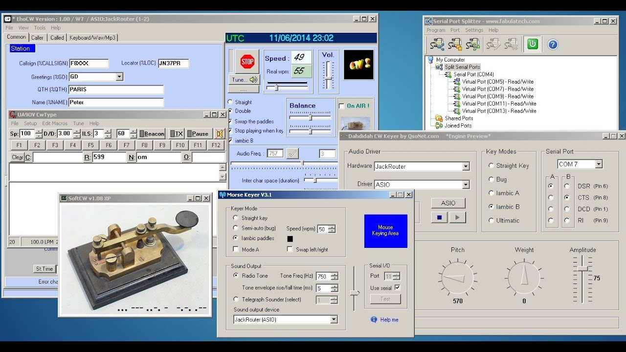 Software Cw Keyers Review Of 5 Morse Code Programs Youtube