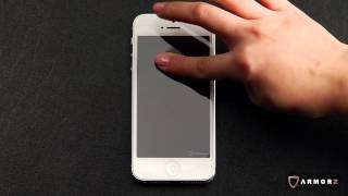 Armorz Stealth Extreme R Tempered Glass for iPhone 5 Installation Video