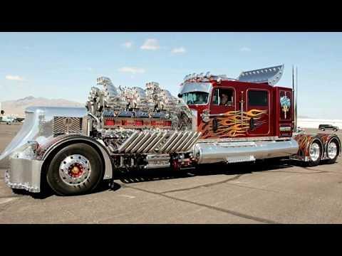3500 Сильный тягач с 27,9 литровым двигателем который поразит вас своими габаритами.