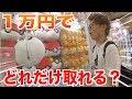 ゲームセンターで1万円使ったらどれくらい取れる?