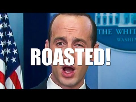 ROASTED! Trump's Nazi Adviser Stephen Miller gets roasted
