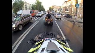 Stels 700H EFI and CFmoto x8 Ride in the city NN
