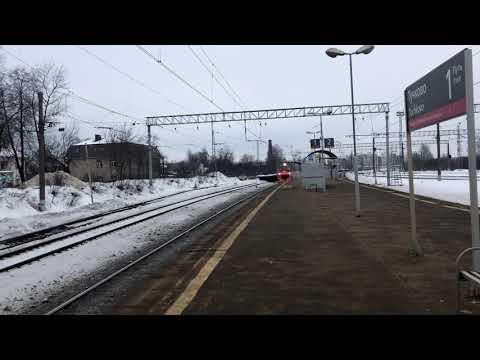 Станция «Тучково» - Электропоезд ЭД4М-0252 ( Рекс ) - Рейс Москва(Белорусский вокзал) -Можайск #7141