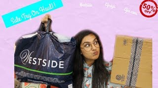 Huge Try On Haul : Westside , Ajio Sale , Lifestyle! | Monsoon Sale Shopping Haul