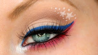 Patriotic Red, White & Blue | 4th of July Makeup Tutorial