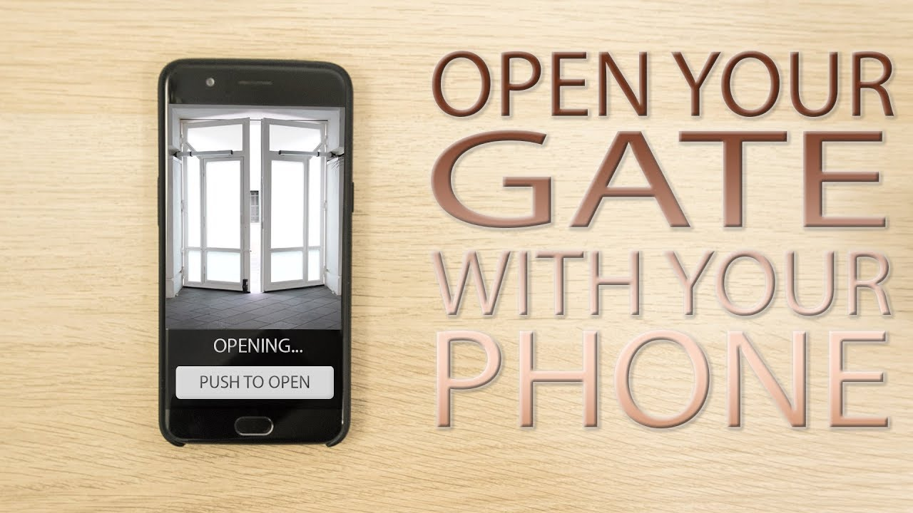 Open your electric gate with your smartphone! - My Raspberry Pi first  project