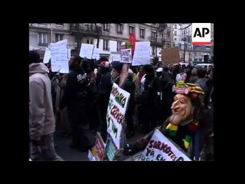 Demo in support of striking workers in Guadeloupe and Martinique