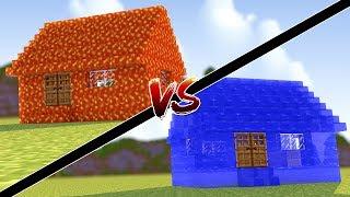 Minecraft: CASA DE LAVA VS CASA DE ÁGUA !!