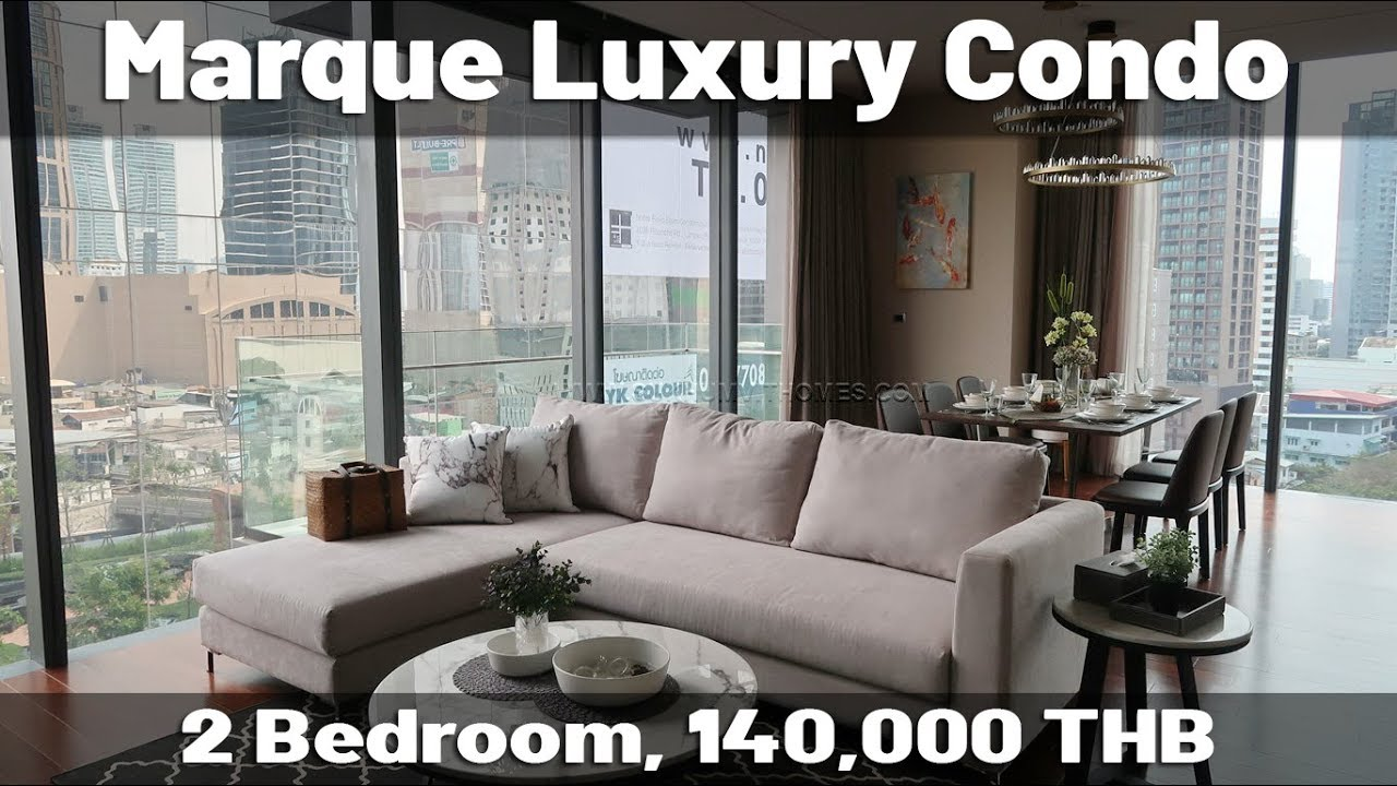 Marque Bangkok luxury 2 bedroom apartment for rent - YouTube