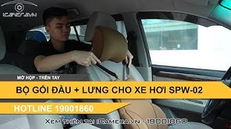 Bộ gối tựa đầu chống mỏi cổ và chống đau lưng trên xe hơi ô tô