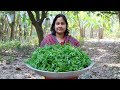 Vegetable Recipe: Chickpea Spinach Paste Recipe in Village by Mom | Village Food Factory