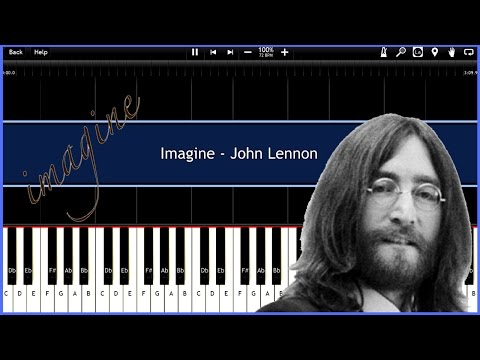 Imagine  John Lennon Synthesia Tutorial Instrumental  Download