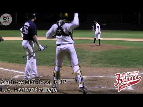 Andrew Mendoza Prospect Video, RHP, Los Angeles Harbor College