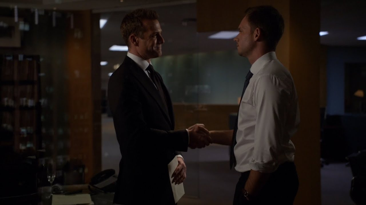 Download Mike takes Harvey's legendary office   Suits 6x16
