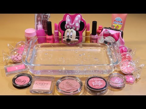 Special Series2 #01 Mixing PINK EYESHADOW and Parts,glitter... Into Slime! WE LOVE PINK!