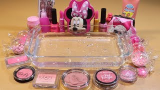 "Special Series2 #01 Mixing ""PINK"" EYESHADOW and Parts,glitter... Into Slime! WE LOVE PINK!"