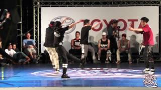 Bboy Crew Battle Semifinal-2 U Taipei vs HRC Bboyz | 2015 TOYOTA BOTY TAIWAN