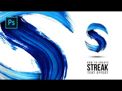 How To Create Streak Paint Text Effect In Photoshop - Photoshop Tutorials