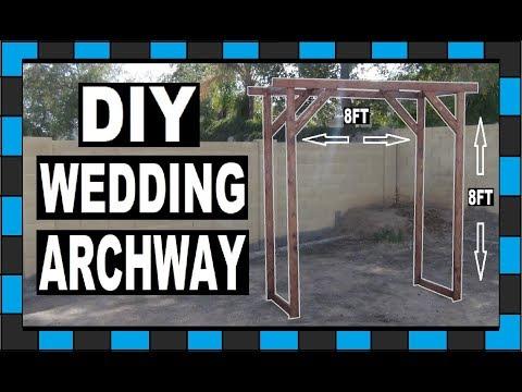 DIY Wedding Arch // Under $50 // How To Build A Wedding Archway!!!