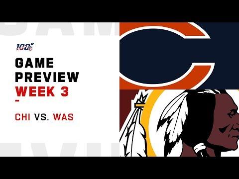 Chicago Bears vs. Washington Redskins Week 3 NFL Game Preview