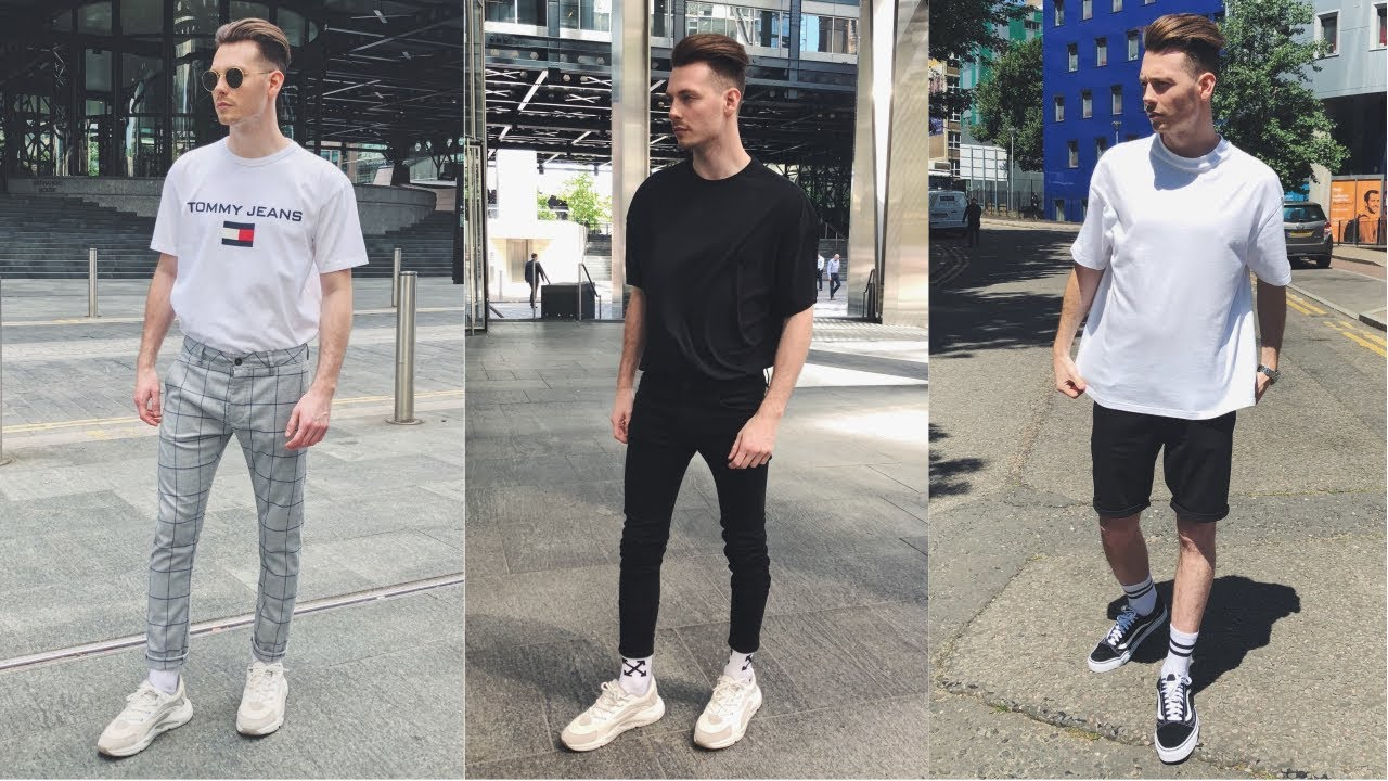 bfaa2d9f7768 Mens Streetwear Lookbook  NEW Spring Summer 2018  4 Outfits For Men ...