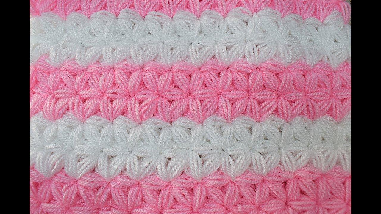 Punto Jazmín A Crochet O Ganchillo Majovel Crochet Youtube