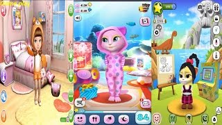 My Talking Angela VS  Emma the Cat  VS  AVA the 3D Doll Gameplay Great Makeover for Children HD