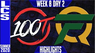 100 vs FLY Highlights | LCS Summer 2020 W8D2 | Hundred Thieves vs FlyQuest