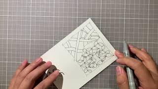 CarrieFish Zentangle - 在家學禪繞002