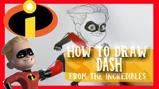How to Draw DASH from Disney Pixar's THE INCREDIBLES
